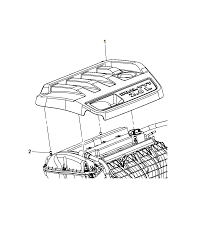 2012 chrysler 200 engine cover related parts thumbnail 4