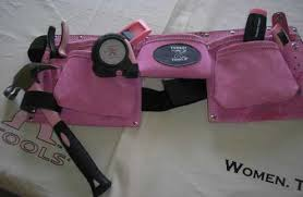 pink leather tool belt. pink toolbelt, leather tools tool belt l