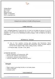 Sample Resume For Freshers Commerce Graduate Https Momogicars Com