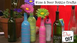 turn your empty wine and beer bottles into craft projects