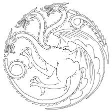 Game Of Thrones Coloring Pages Interactive For Adults Carnival Games