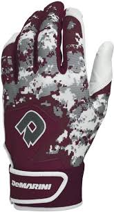 Demarini Batting Gloves Size Chart Demarini Digi Camo Ii Batting Gloves Maroon Small Pair