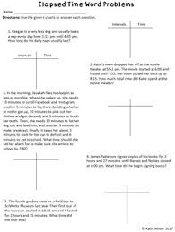T Chart Math Problems Elapsed Time Using A T Chart Word Problems Ccss 3 Md A 1 4 Md A 2