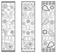 You'll find plenty of unique christmas coloring pages that are completely free! Free Printable Bookmark Template For Mothers Day Or Mum For Colouring And Gifts