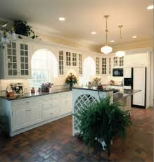 incredible kitchen lighting layout with ceramic floor and classic windows