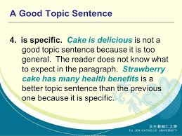 the topic sentence supporting concluding sentences ppt video a good topic sentence