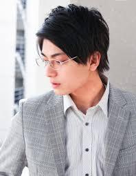 メンズ ビジネス高感度メガネが似合う髪型ny 155 ヘアカタログ