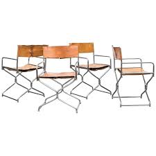 terrific leather directors chair folding set of four chrome and leather folding directors chairs at folding
