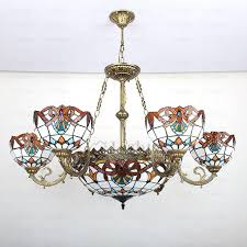 tiffany glass chandelier tiffany style stained glass chandeliers