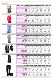 12 14 Size Chart Size Chart Womens Sizes A Moment In Tyme