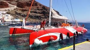 Dream Catcher Boat Santorini Catamaran Caldera Cruise with Barbecue Santorini Island Expedia 70