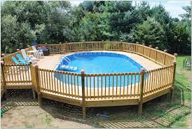 Wooden Pool Decks Pool Decks For Above Ground Pools Plans Pools Home Decorating