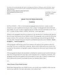 sample press release template the press release template from veracity a pr firm letter for of