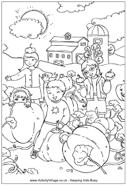 Small Picture Pumpking Patch Colouring Page
