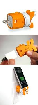 cell phone cord holder this goldfish phone charger also acts as a cord holder and stand cell phone cord holder aluminum cable organizer charging