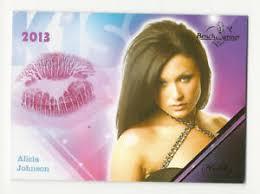 Alicia Johnson 2013 Benchwarmer Hobby Lipstick Kiss Card #32 | eBay