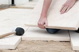 how to lay pavers on sand or dirt