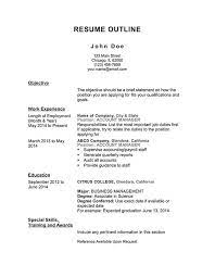 Here are some pro tips to create an effective resume especially if you are a fresher. Free Resume Outline Templates And Step By Step Guide Hloom