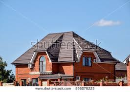 types of roofing sheet roof metal sheets modern types roofing stock photo royalty free