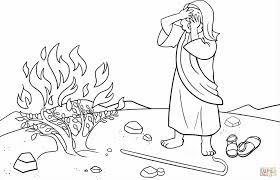 Small Picture Moses And The Burning Bush Coloring Pages akmame