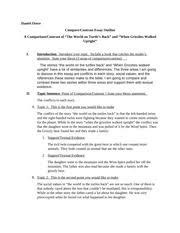compare contrast essay outline revised daniel otero th compare  most popular documents for econ 101