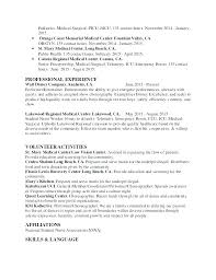 Nursing Objective Resume Experienced Nurse Resume Examples Examples