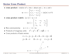Cross Product Chart Attitude Determination Control Technical Training Course