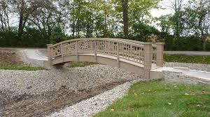 asian style pedestrian wooden bridges and garden bridges