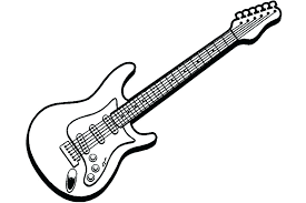 guitar coloring page free electric pages printable within elec guitar coloring page