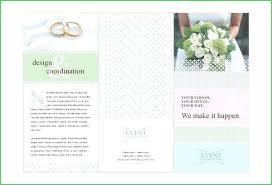 Wedding Brochure Templates Word Vector 24 Free Brochure Wedding