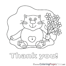 Printable Coloring Thank You Cards Best Coloring Pages 2018