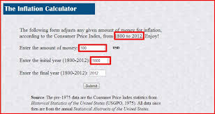 Trader Tools The Inflation Calculator Usd 1800 2012 Trader 2