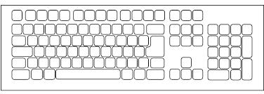 Silhouette Tastatur Silhouetten Und Kontur Vektoren