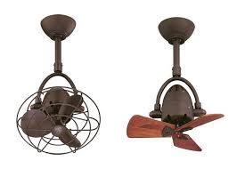 diane oscillating directional ceiling fan in textured bronze with metal blades