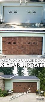 Faux Garage Door Windows Refresh Old Wood Easily Faux Wood Garage Door Update Prodigal