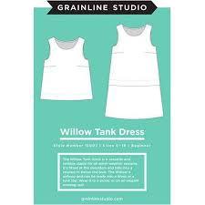 Grainline Patterns Delectable Willow Tank Dress Pattern Grainline Studio Sewing Parts Online