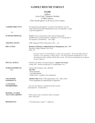 examples of resumes best resume simple format in ms word 89 wonderful the best resumes examples of