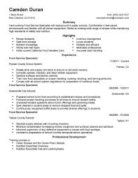 What A Resume Should Look Like Best Educational Food Specialist Resume Example LiveCareer 49