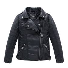children s collar motorcycle leather coat boys leather jacket black t3 4