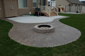 concrete patio designs with fire pit. Fine Pit Elegant Concrete Patio Ideas With Fire Pit Inspired Best  Designs Throughout With T