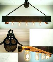 wood light fixtures rustic wooden light fixtures beam chandelier with bulbs rope and pulley wood ceiling