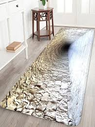 brick cave pattern water absorption area rug