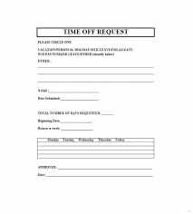 Time Off Request Template. Time Off Request Template Staffing Form ...