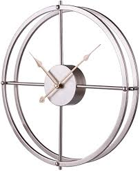 These living room, kitchen and bedroom accessories are easy to set and enhance your space with styles like classic, modern, retro or unique. Amazon Com Ruiyif 24 Inch Silent Wall Clock Non Ticking Battery Operated Oversize Farmhouse Rustic Metal Vintag Large Decorative Living Room Bedroom Office Kitchen Gold Kitchen Dining