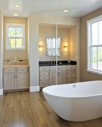 Light Bathroom Colors 26 Master Bathrooms With Wood Floors Pictures