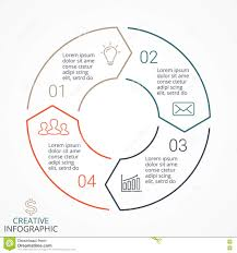 Business Cycle Chart Vector Circle Arrows Linear Infographic Diagram Graph