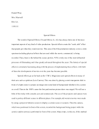senior project essay