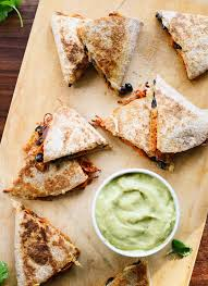 amazing sweet potato black bean quesadillas with creamy avocado salsa verde perfect for busy weeknights