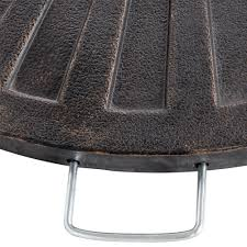 sundale outdoor 30 pounds fan shaped resin base weight for cross base umbrella bronze com