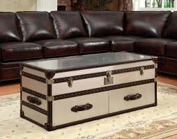 aluminum trunk coffee table steamer trunk coffee table richards polished aluminum trunk coffee table large